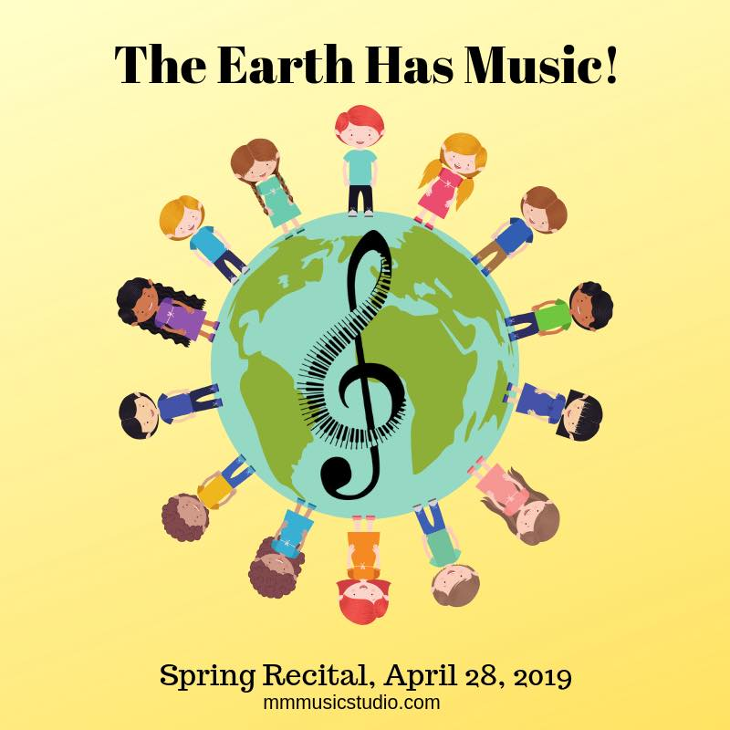 The Earth Has Music! Spring Recital 2019