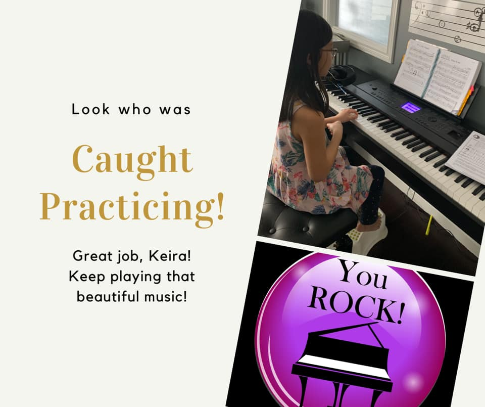 Caught Practicing and April News!